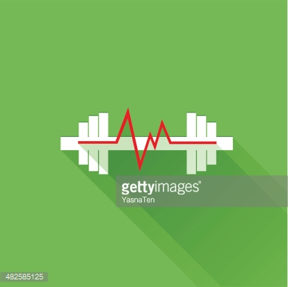 Sports heart rate flat icon
