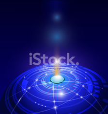 Abstract blue background for futuristic high tech design