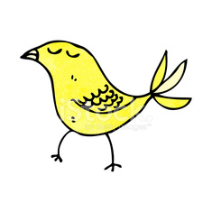 cartoon yellow bird