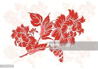 China Floral Ornament Color