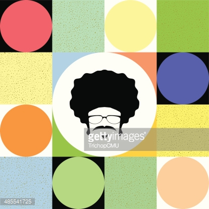 afro man on colorful background vector