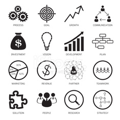 Strategy concept icons. Vector illustration