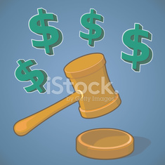 Auction Hammer and Gavel