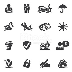 Insurance Silhouette icons| EPS10