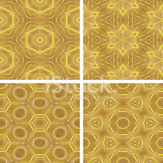 set of yellow glowing abstrack seamless background