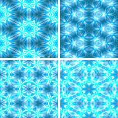 set of blue glowing abstrack seamless background