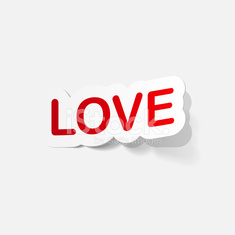 paper sticker: big love
