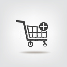 Trolley shopping sign icon