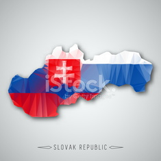 Slovak republic map in a Triangular Style. Vector Illustration