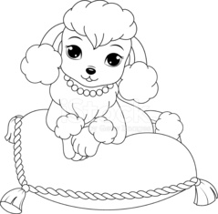 Poodle Coloring Page Stock Photos Vectorhq Com