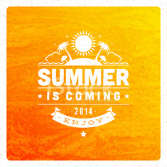 Summer vector typography