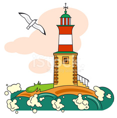 lighthouse and seagull