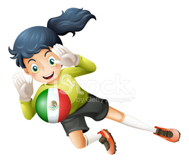 Female football player from Mexico