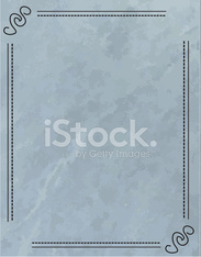 Blue and Grey Textured Grunge with Lineart Design Frame Border
