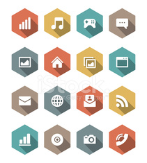 Flat vector icons concept