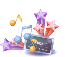 The view of music player