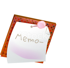 The view of memo pad
