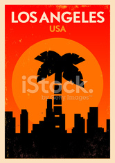 Typographic Los Angeles City Poster Design