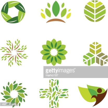 Nature green eco help care for healthy life logo icon