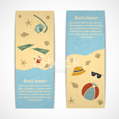 Summer vacation banners vertical