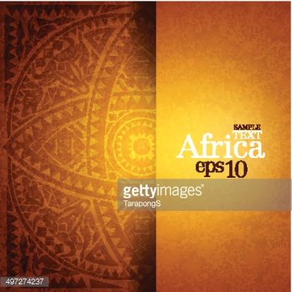 African background design template.
