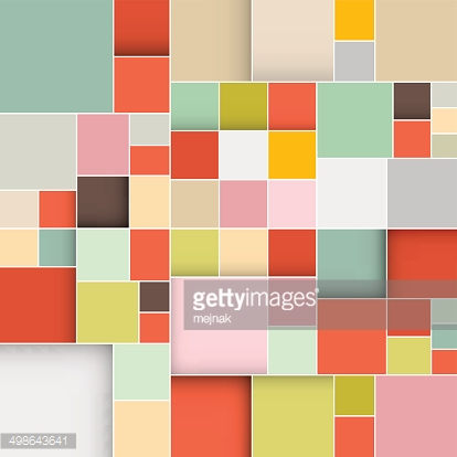Vector Squares Retro Background Illustration