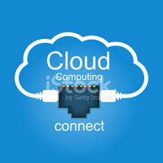 Cloud computing concept. Connected to the cloud.