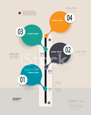 Infographic design-time line template