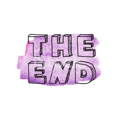 "Inscription ""The end"""