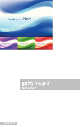 Abstract vector background set. with Diverse color saturation