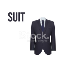Suit isolated on white background. Vector