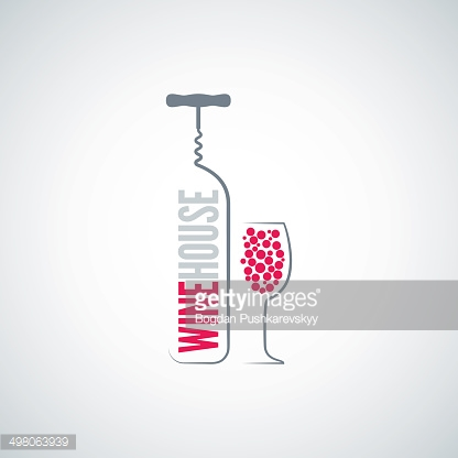 wine bottle glass menu background