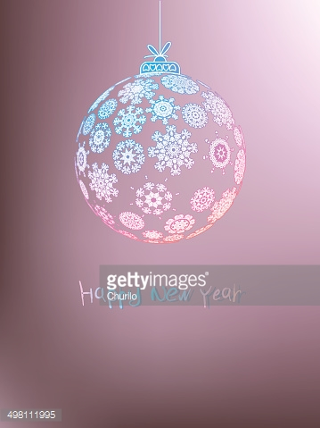 Christmas ball made from snowflakes. + EPS8