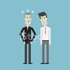 Businessman feel sad with boss - Vector