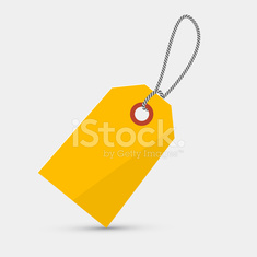Empty Yellow Label, Tag With String