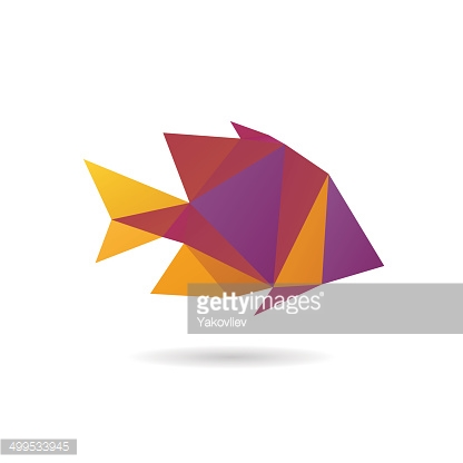 Fish abstract isolated on a white backgrounds