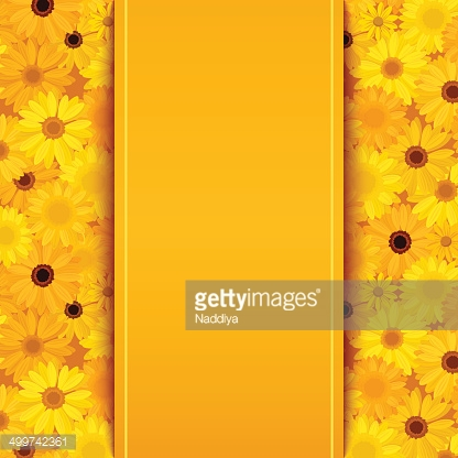 Invitation Card With Yellow And Orange Gerbera Vector Eps