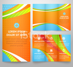 Professional three fold business flyer template, corporate broch