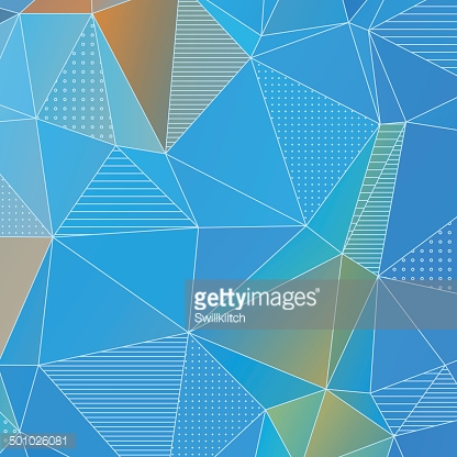 Abstract geometric background with blue triangles
