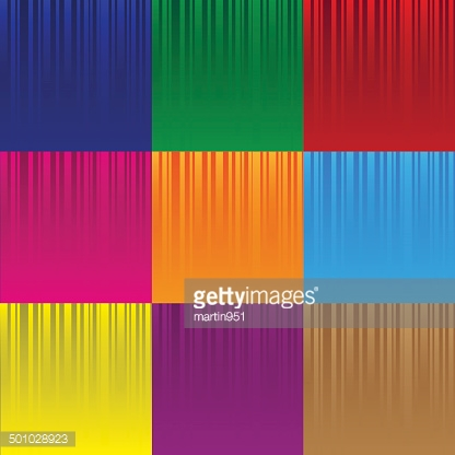set of various color striped abstract pattern eps10