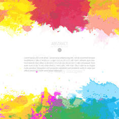 Vector template of watercolor splashes background
