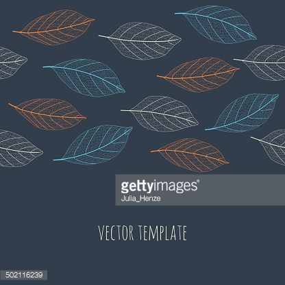 Colorful leaves abstract background