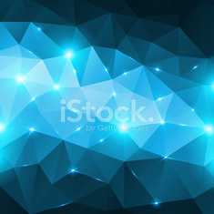 Blue abstract shining ice vector background.