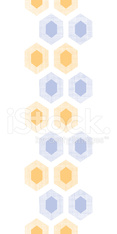 Abstract purple yellow honeycomb fabric textured vertical seamle