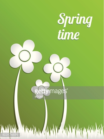 Spring time. Vector concept illustration.