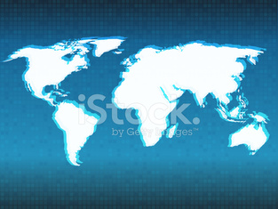 vector abstract world map background