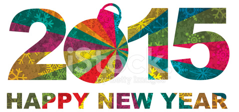 Happy New Year Numerals 2015 Vector Illustration