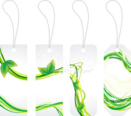abstract green eco sale tags