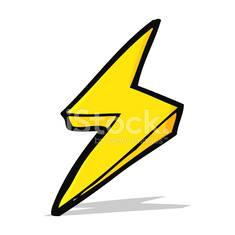 cartoon lightning bolt symbol