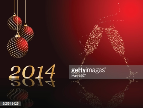 stylized vector New Years card